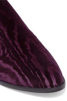 a9d2d12009e Robert Clergerie - Alice Devoré Velvet Slippers - Dark purple