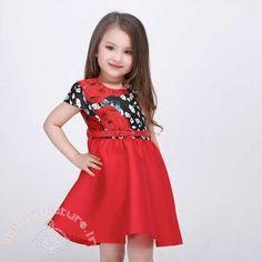 Red Rose Blooming Summer Kids #Dress