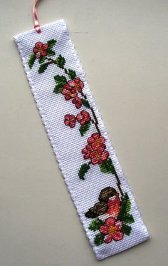 Chaffinch Rose bookmark.Permin.