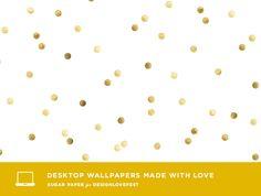 MEGA Love: gold confetti desktop wallpaper @Bri W. emery / designlovefest