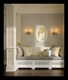 soft grey paint … gorgeous – think its Silvery Moon 1604 by Benjamin Moore. @ Home DIY Remodeling