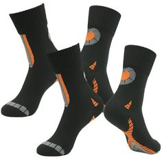 RANDY SUN 2 Pairs Unisex Waterproof & Breathable Hiking/Trekking/Ski Socks, Black 4, Small. Three sizes (unisex): Small (6.5-10),Medium (9-12.5),Large (12-14.5);See the images for more size information(USA Men,USA Women). Daily Wear,foot care,especially suitable for outdoor sports and activities of various kind of harsh environments. 100% waterproof and breathable,moisture and perspiration absorption,anti bacterial function to reduce bad odour. Ultra-light cushion sole provides comfort…