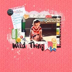 Wild Thing - Scrapbook.com - Be sure to document the little moments like learning animal noises!
