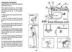 Euro Pro 376 Sewing Machine Threading Diagram