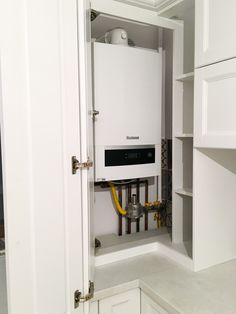 Idea how to incorporate central heating system in your kitchen furniture
