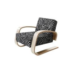 Artek Home Tank 400 Armchair (37.605 HRK) ❤ liked on Polyvore featuring home, furniture, chairs, accent chairs, artek, artek chair, zig zag chair, artek furniture and zebra accent chair