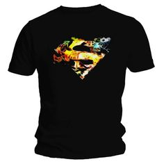 Superman Saturated T-Shirt Superman Man Of Steel, Mens Tops, T Shirt, Clothes, Fashion, Supreme T Shirt, Outfits, Moda, Tee
