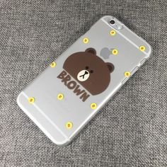 QQ059 Brown phone Case Line Phone, Phone Cases, Brown, Chocolates, Brown Colors