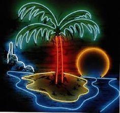 Neon palm tree.