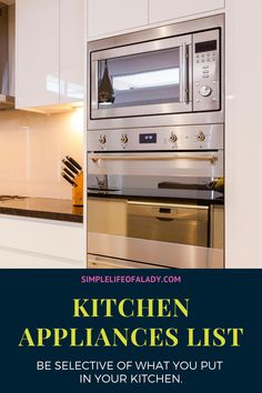 A list of kitchen appliances classified as essential and non essential - to help you decide which are the appliances that you should have and which also are those that you can live without.