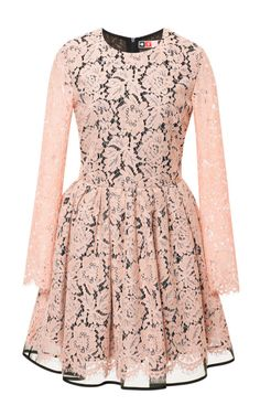 Pleated Lace Dress by Msgm Now Available on Moda Operandi
