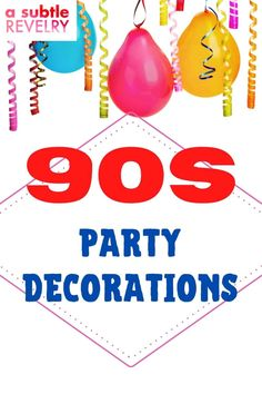 Are you interested to have 90s party decorations? Everyone loved the 90s for one reason or another and these party ideas are sure to hit close to home for anybody. Check this pin! #90sparty #90sdecoration #90s Celebrate Good Times, Lets Celebrate, 90s Party Decorations, Love The 90s, Celebrate Recovery, Heart Balloons, Destiny's Child, Feeling Loved, Best Part Of Me
