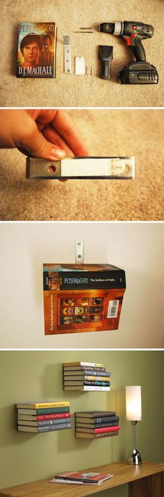 Conceal Bookshelf - http://www.instructables.com/id/How-To-Make-An-Invisible-Bookahelf-Without-Ruinin/?ALLSTEPS
