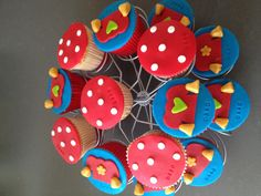 Kabouter plop cupcakes
