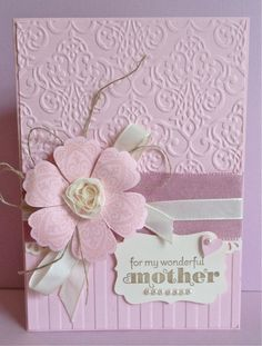 Stunning Pink Embossed Floral Card...by Ann Craig - Stampin' Up! Demonstrator.