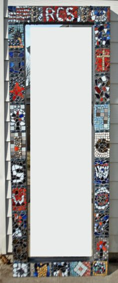 Glass Mosaic class project to submit to school auction.  Mosaics are my new facination.