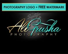 Professional photography logo FREE watermark and PSD by Signtific Creative Logo, Logo Design Services, Custom Logo Design, Custom Logos, Order Business Cards, Business Logo, Studio Logo, Logan, Photo Signature