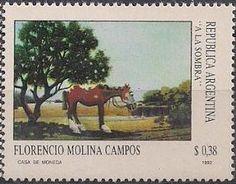 """Florencio Molina Campos, """"La sombra"""". Casa de la Moneda, 1992."""