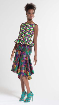 Vlisco Voilà for You Automne ~Latest African Fashion African Dresses For Women, African Attire, African Wear, African Fashion Dresses, African Women, Fashion Outfits, Men's Fashion, Ghanaian Fashion, African Inspired Fashion