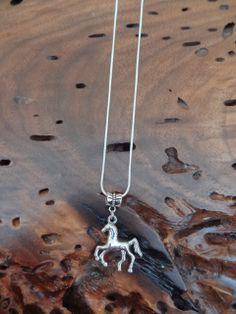 Silver Horse Charm Necklace for the FFA 4H by GunPowderWoman, $9.00
