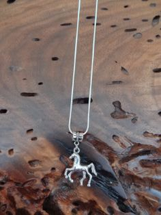 Silver Horse Charm Necklace for the FFA 4H by GunPowderWoman, $9.00