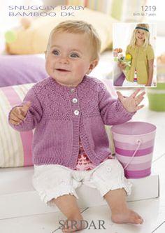 Sirdar Snuggly Baby Bamboo DK 1219 - cute cardigan
