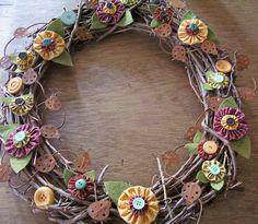 a yo yo spring wreath