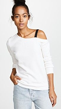 New Pam Gela One Shoulder Sweatshirt with D-Ring Strap online. Enjoy the absolute best in Double Rainbouu Clothing from top store. Sku vqxp92027tgvn99897