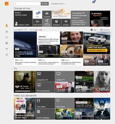 la nouvelle interface web du portail d'Orange