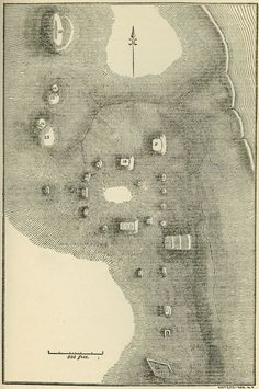 This 1819 survey map (St Louis, MO, riverfront) by Thomas Say and Titian People was reproduced in Noteson Aboriginal Inhabitants of Missouri. (Missouri History Museum Library)