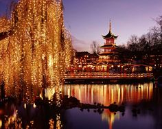 CHRISTMAS LIGHTS AROUND WORLD  Tivoli Garden, Copenhagen (2013) - Brian Lawrence/Getty Images