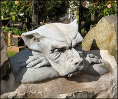 stone bored Northumberland. stone carving