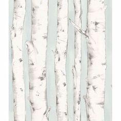 Show details for Pioneer Light Blue Birch Tree Wallpaper