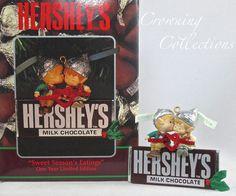 Enesco Sweet Season's Eatings Ornament Hershey's Chocolate Bar Christmas Elf