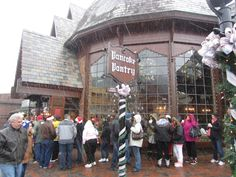 Pancake Pantry in Gatlinburg, TN during Christmas... The food is so good, people stand outside in a line in the snow just to wait for a table.