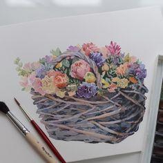 А это эскиз для новых открыток на 8 Марта☺️ #art #artist #draw #drawing #paint…
