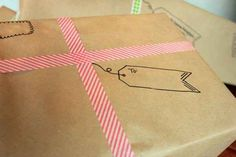 No ribbon? Use paper tape to create the illusion of well tied ribbon.