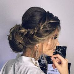 Easy Boho Hairstyle For Long Hair - 20 Trendy Half Braided Hairstyles - The Trending Hairstyle Wedding Ponytail, Wedding Hair And Makeup, Bridal Hair, Hair Makeup, Hair Wedding, Pretty Hairstyles, Braided Hairstyles, Wedding Hairstyles, Long Hair Formal Hairstyles