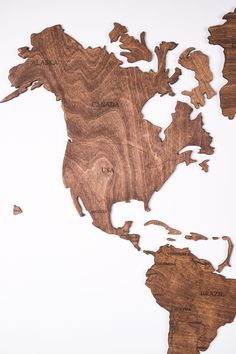 Rustic Brown Wood World Map with USA borders by WoodPecStudio. Travel push pin maps for wall office decor, bedroom and living room rustic decor, hallway decoration. World maps from wood for wall decor in farmhouse style. Push Pin World Map, World Map Wall Art, Map Wall Art, Anniversary Gift, Wooden Travel Push Pin Map, Housewarming Gift #woodenmap #bedroomdecor #artwork