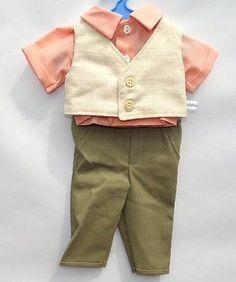 Schildkroet-Puppenkleidung-Anzug-mit-Hemd-und-Weste-fuer-41-cm-Puppen