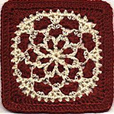 Red Velvet Crochet Granny Square