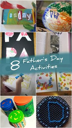 8 Father's Day Activities! Including candy bars wrapped in your own art work and photo bookmarks