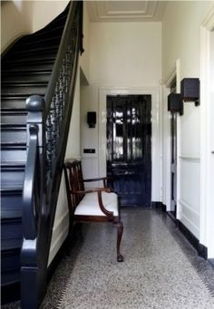 1000 images about trap entree on pinterest met wooden staircases and van - Entreehal met trap ...