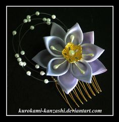 Lovely Lavender by Kurokami-Kanzashi.deviantart.com