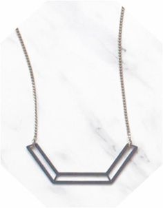 The Geo Pendant - Grey – Days of August