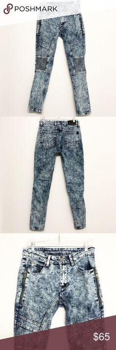 51a3062b35 Versace | V1969 Italia Acid Wash Skinny Moto Jeans Versace | V1969 Italia  Acid Wash Skinny