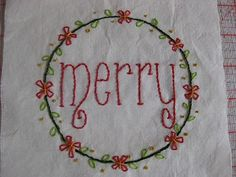 Christmas quiltpartI:embroidery | Sewn Up Gail Pan for quilt and wallhanging