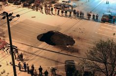 Giant Sinkhole Opens in Beijing Road, Swallows Truck: Gee, glad we missed this. #Sinkhole #Beijing