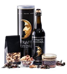 A powerful Belgian beer combined with snacks for tough men: the perfect Father's Day Gift! Guys love Straffe Hendrik Quadruppel beer, a dark brown beer with dark malt flavors and notes of plum, fig, and dark fruit. Send Gift Basket, Food Hampers, Gift Baskets For Men, Gourmet Gift Baskets, Gift Hampers, Hampers Online, Buy Gifts Online, Belgian Beer, Father's Day