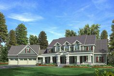 Craftsman with a Farmhouse Touch - 3645DK   Craftsman, Farmhouse, Northwest, Luxury, Photo Gallery, Premium Collection, 1st Floor Master Suite, Bonus Room, Butler Walk-in Pantry, CAD Available, Den-Office-Library-Study, MBR Sitting Area, Media-Game-Home Theater, Multi Stairs to 2nd Floor, PDF   Architectural Designs